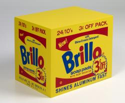 Not Warhol (Yellow Brillo Box [3 ¢ Off], 1963-1964)